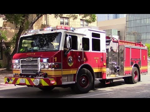 Austin Fire Dept. Engine 1 Responding