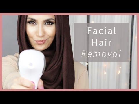 HOW I REMOVE FACIAL HAIR! | Amena