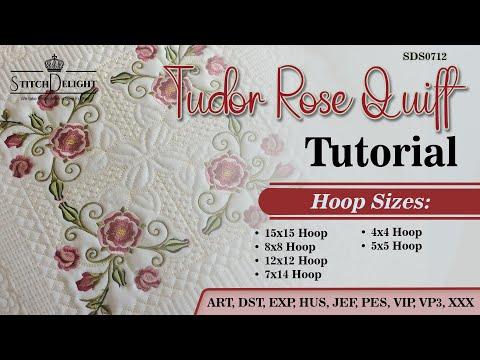 SDS0721 Tudor Rose Quiltblock set 6