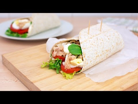Tuna & Egg Salad Wraps - How to Make Tuna Wraps at Home