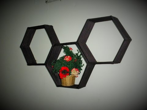 DIY | Wall Shelves/ Organizer/ Decoration idea | Made with Newspaper |
