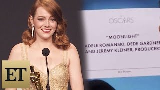 Emma Stone Reacts to Best Picture Mistake Between