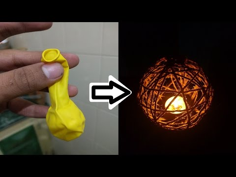 How to make a lantern ( kandil) for candle with balloon for christmas | Life Hacks | DIY