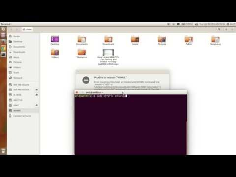 how to fix NTFS Partition  Mount Problem in Ubuntu Dual Boot Windows 8 and 10