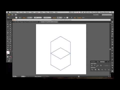 How To Create A Cube Effect In Illustrator Using The Polygon Tool