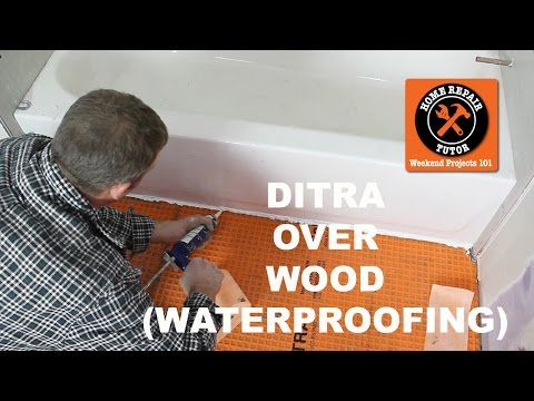 Schluter®-DITRA Over Wood in a Bathroom (Part 2) - by Home Repair Tutor