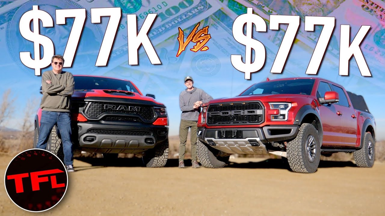 We Paid $77K Each For The Ram TRX AND The Ford F-150 Raptor: Here's Which Truck Is The Better Buy!