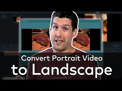 How To Convert Portrait Video to Landscape!