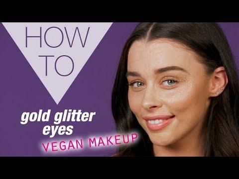 HOW TO | Gold Glitter Eye Makeup | Vegan Makeup Tutorial | Superdrug