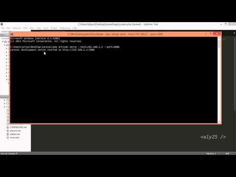 laravel -  php artisan serve with custom host ip address and port (LAN)