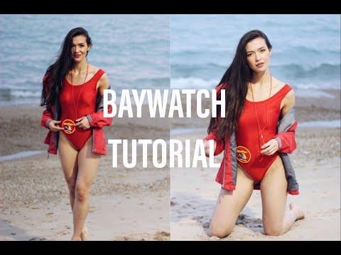 BAYWATCH HALLOWEEN TUTORIAL | Makeup, Costume & Hair