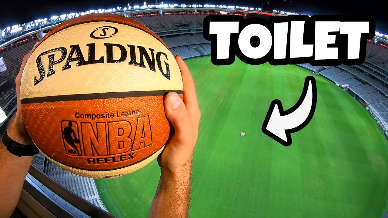 Can We FLUSH a BASKETBALL in a TOILET from a STADIUM ROOF?
