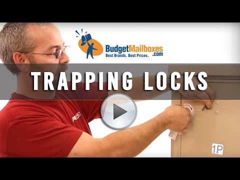 Florence Manufacturing | Trapping Locks Feature for Parcel Lockers | Budget Mailboxes