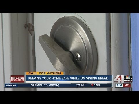 Keeping your home safe while on spring break