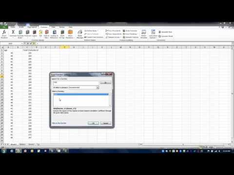 How to Use Excel-The RSQ Function