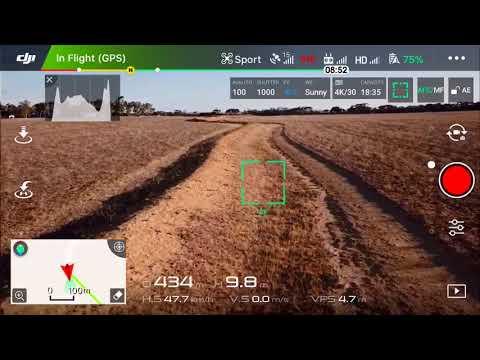 Low altitude high speed Mavic drone run