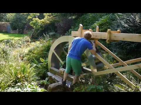 Building a water wheel Ep  8 -  Assembling the wheel