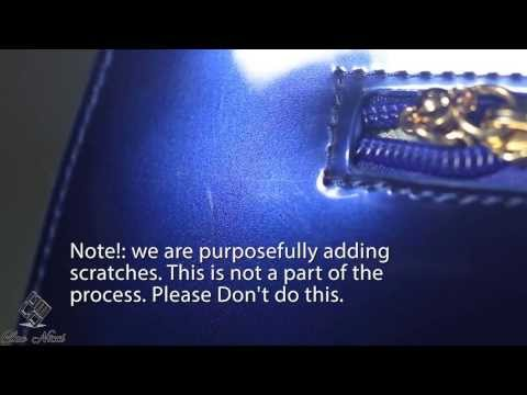 How to remove scratches from patent leather, Vernis handbags from Cleo Nicci