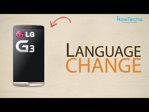 LG G3 - How to change language