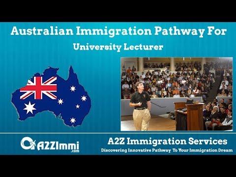 Australia Immigration for University Lecturer *** (ANZSCO Code: 242111)