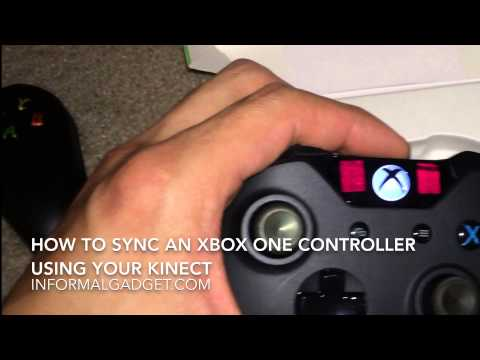 How-To Sync Xbox One Wireless remote Controller Using Kinect control connect sync button pair