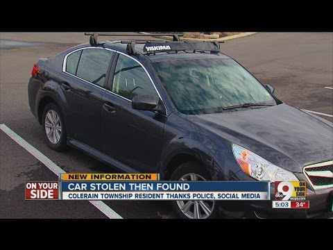 Woman thanks police, social media for finding stolen car