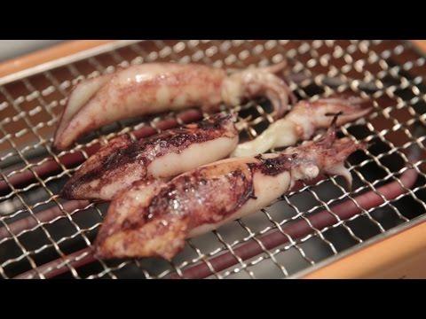 Grill Squid with Infrared Heat and the Livart Orange BBQ | BeatTheBush