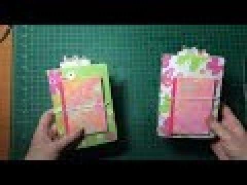 Pocket Traveler's Notebook (no 2) using the Sizzix/Katelyn Lizardi die