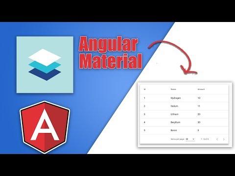 Angular Material Data Table Tutorial