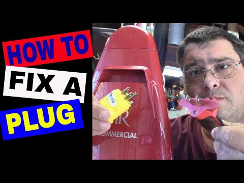 How To Replace A Plug On Your Vacuum Cleaner or Any Appliance
