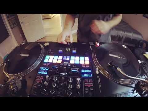DJ Scene practicing cuts with Scratch Ammo vol.3