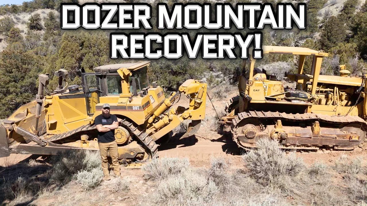 We Almost Wheelied Over Backwards In a CAT D8 Dozer (Extreme Mountain Recovery)