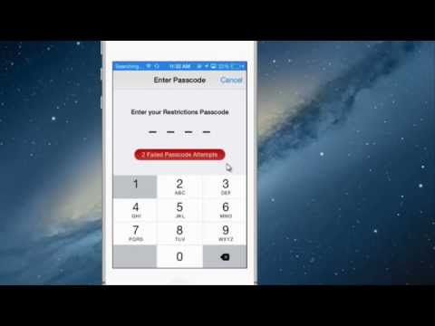 Reset Restrictions Passcode For iPhone, iPod Touch & iPad Networksupportsolution