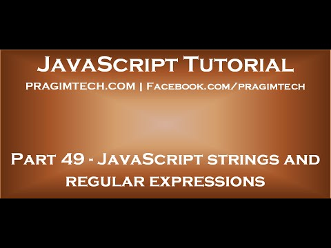 JavaScript strings and regular expressions