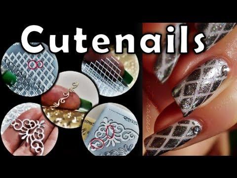 DIY: nail art using peel off scrapbooking stickers