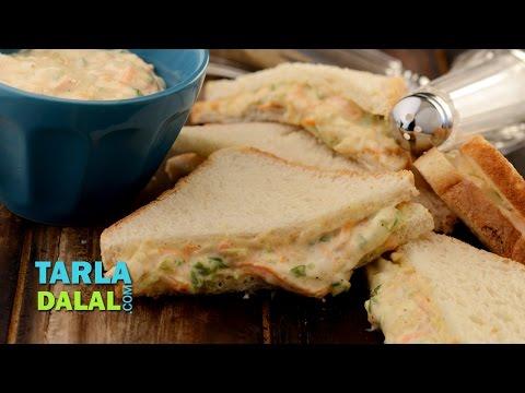 Vegetable Mayonnaise Sandwich by Tarla Dalal