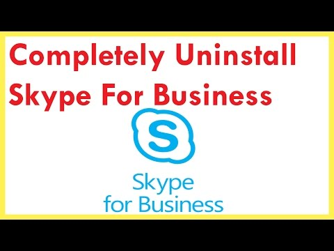 Completely Uninstall Skype For Business