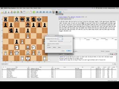 Mac Chess Explorer - Analysing using an engine