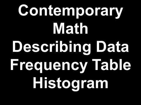 Contemporary Math Describing Data, Frequency Table, Histogram