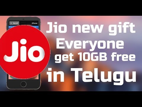 EVERYONE GET JIO 10 GB DATA FREE ACTIVATE ON YOUR JIO NUMBER TELUGU.
