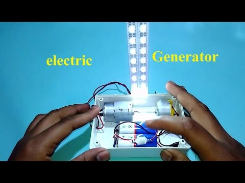 How to make electric Generator at Home use dc motor simple
