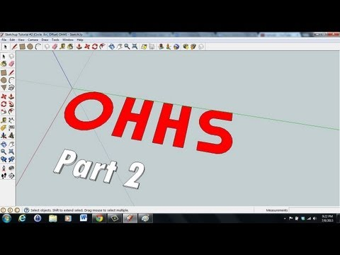 Sketchup Tutorial (2D to 3D Letters) Part 2