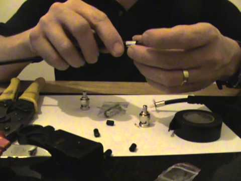 How to join a broken / snapped coaxial cable using BNC Connectors on RG59 CCTV Cable