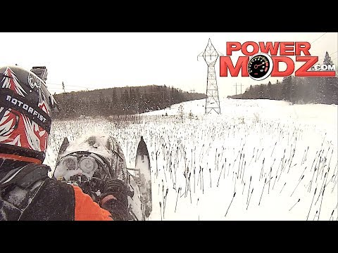 A great powder day on the Skidoo REV and Polaris IQR 800!