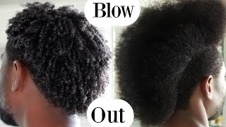 How To Blow Out / Blowdry Curly hair - Men Hair Care | Josiphia Rizado