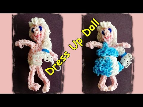 Rainbow Loom Dress Up Doll with Loom Bands - Make Elsa or Customize your own girl or boy doll