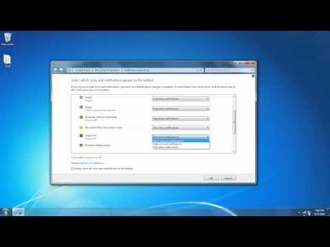 Windows 7: Notification Area Icons