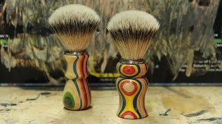 Shaving Brush (made with recycled skateboards)