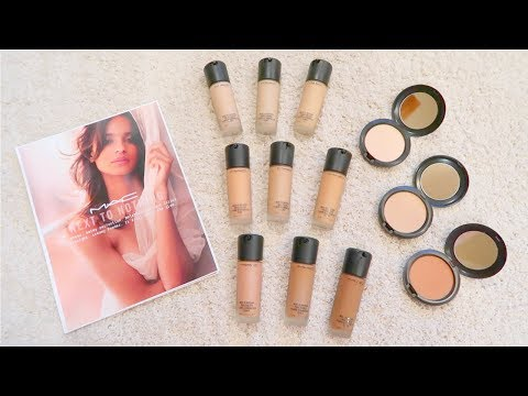 MAC Next To Nothing Collection | Review/Demo & Swatches | Foundation, Powder & Brushes