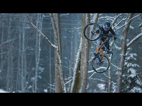 Next Level Mountain Biking // VinnyT Rips Apart Some Snowy Trails